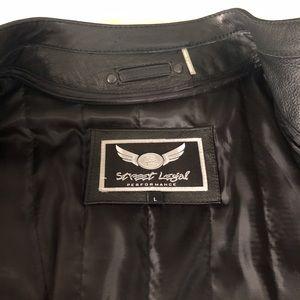 Street Legal Jackets & Coats - NWOT Street Legal Leather Jacket Skull Sleeves